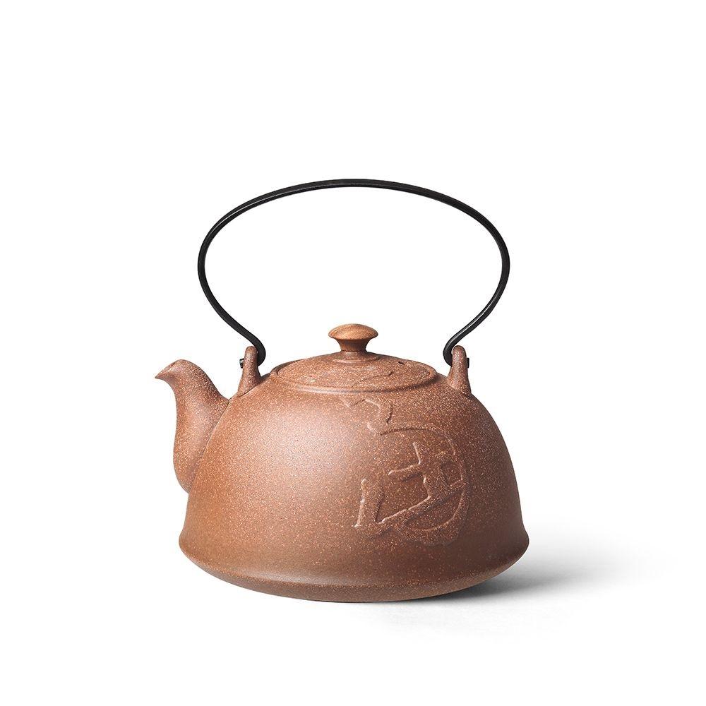 陶作坊|老岩泥狗年生肖紀念九式燒水壺