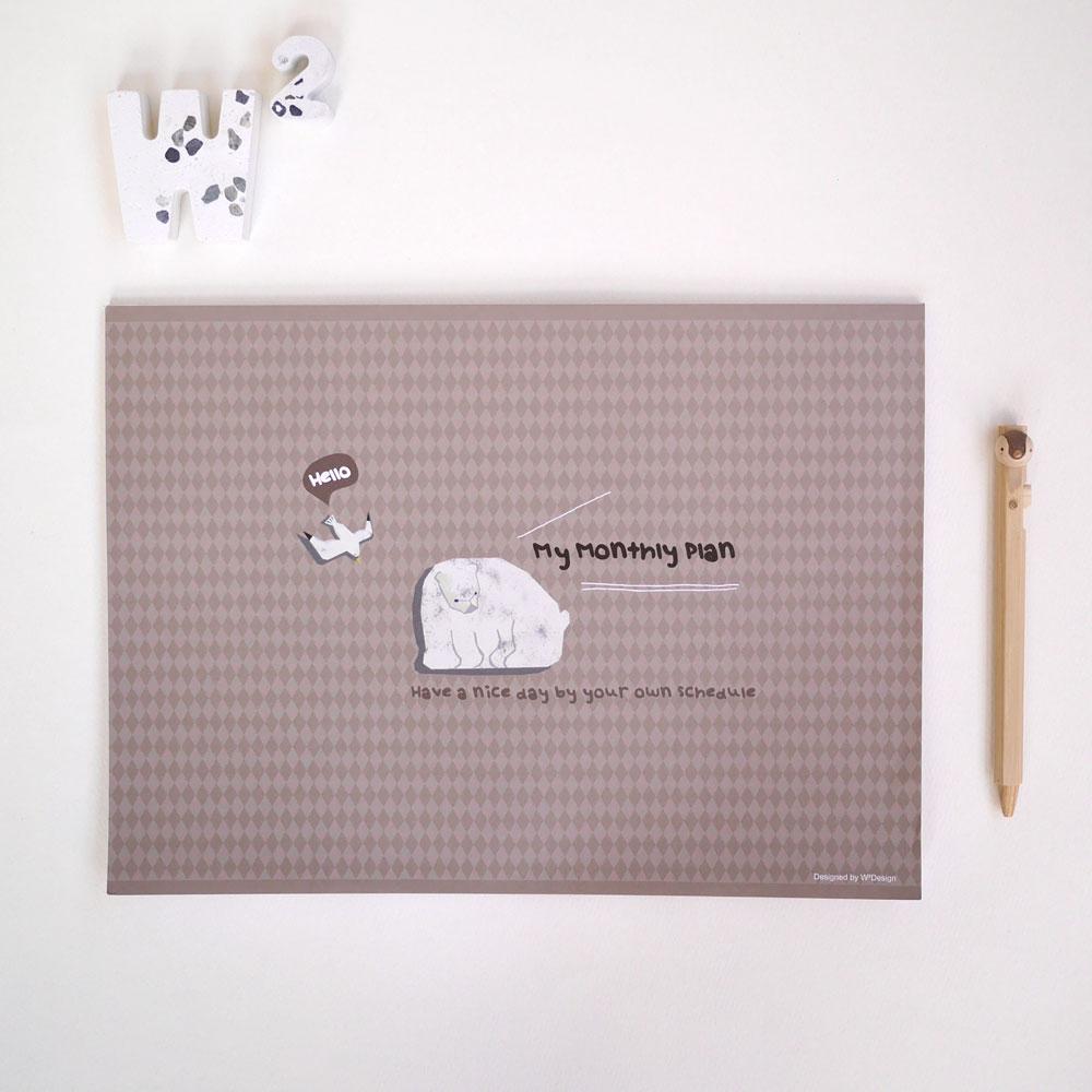 W2Design|POP童話森林無時效月桌曆 A4 (二入)
