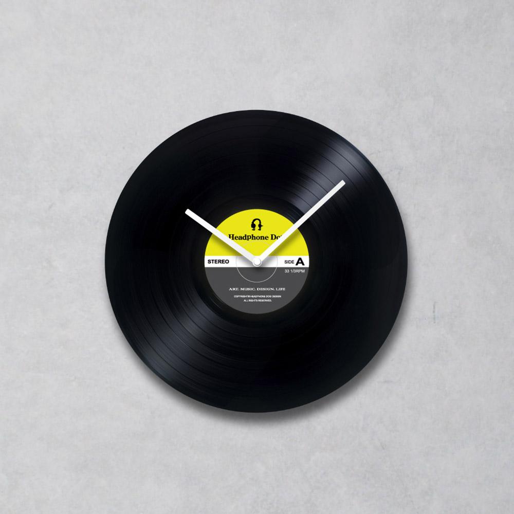 HeadphoneDog|手工黑膠唱片時鐘-普普簡約款