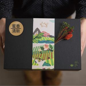 豐茶|台灣茶王手作茶-清新烏龍+蜜香烏龍 禮盒組