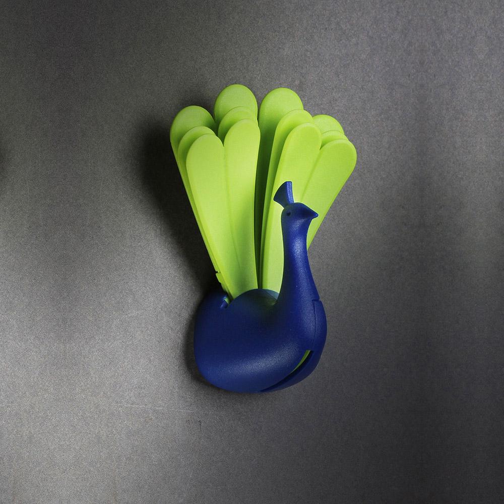 QUALY|孔雀開屏-鑰匙圈(藍+綠)
