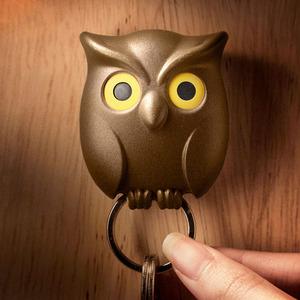 Qualy|貓頭鷹-鑰匙圈(咖啡)