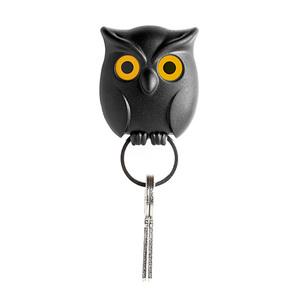 Qualy|貓頭鷹-鑰匙圈(黑)