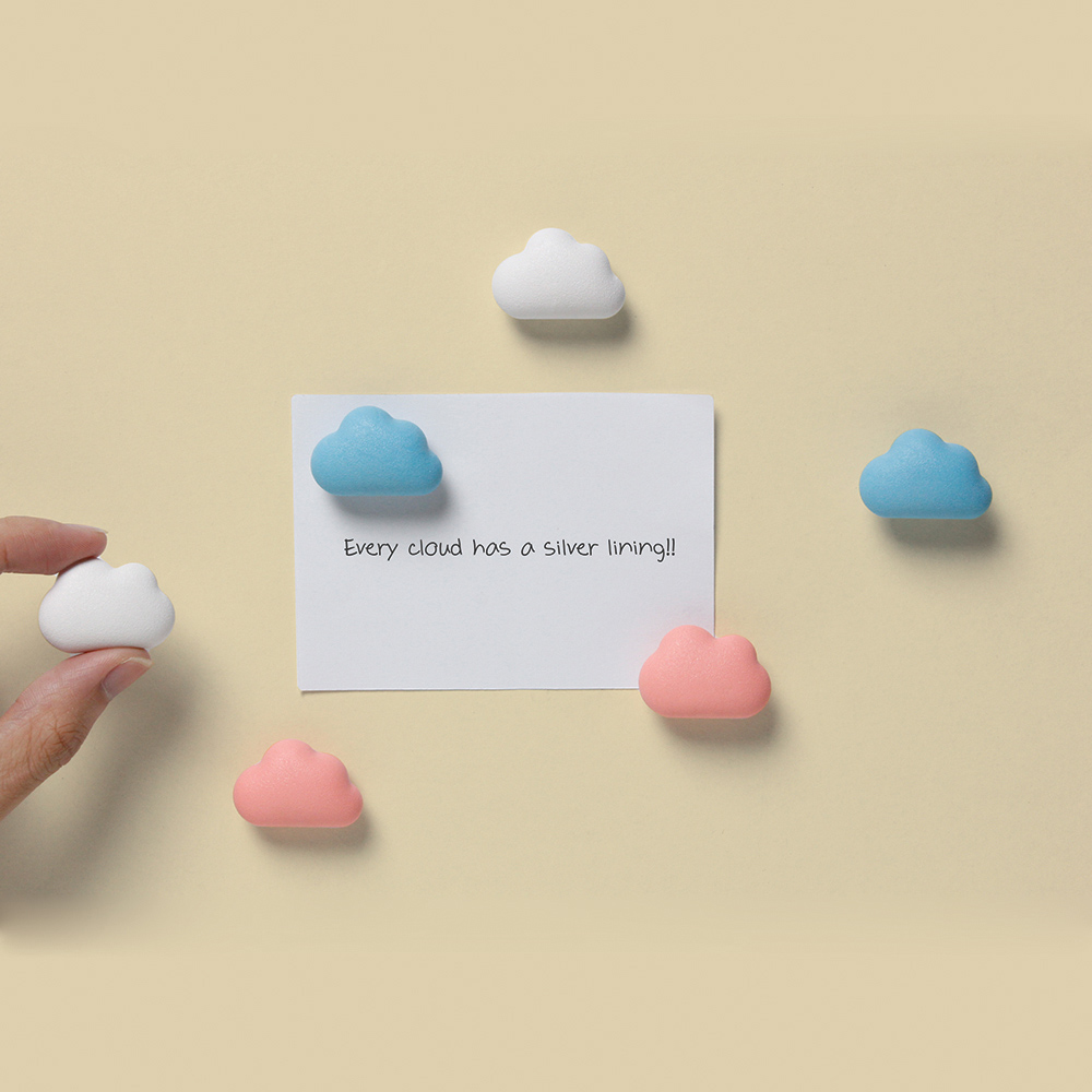 QUALY|朵朵雲兒-磁鐵(藍+粉紅)