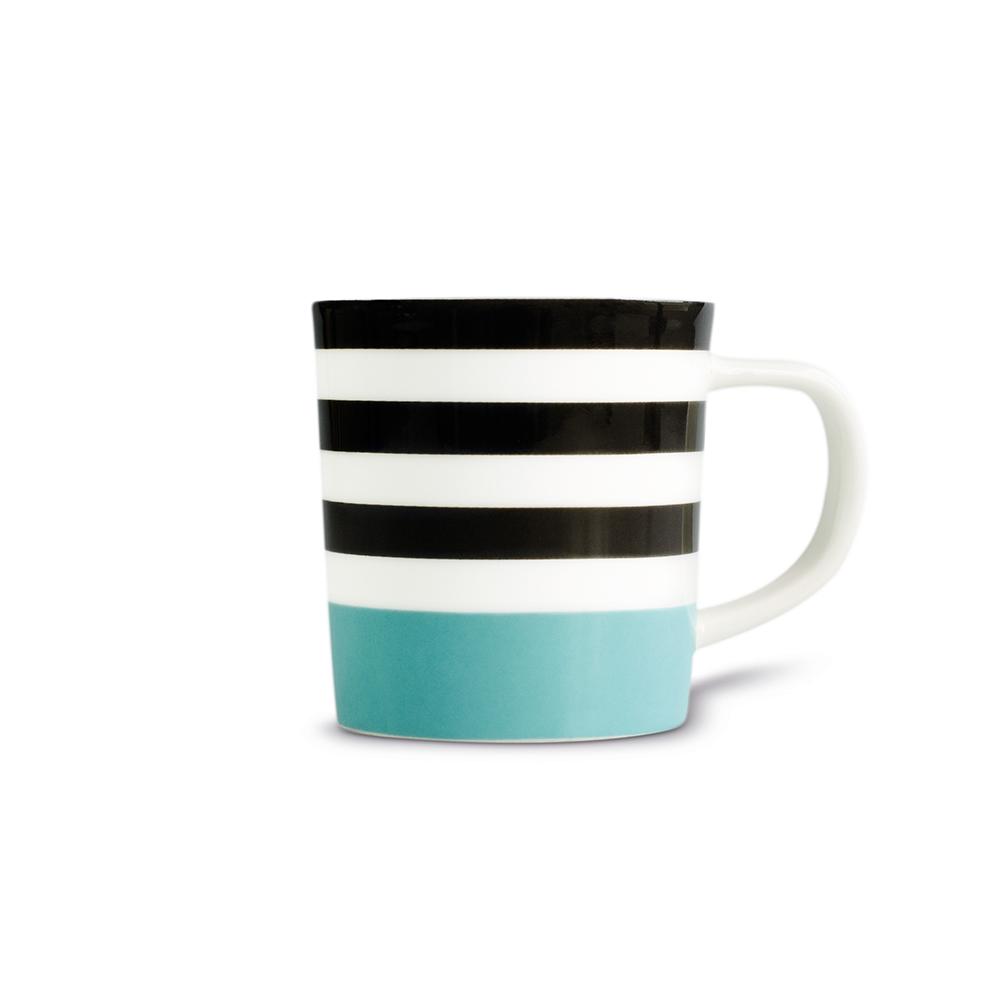 REMEMBER 骨瓷義式咖啡杯組(藍黑條紋)
