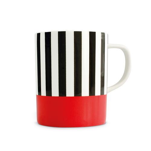 REMEMBER|骨瓷馬克杯(紅黑條紋)