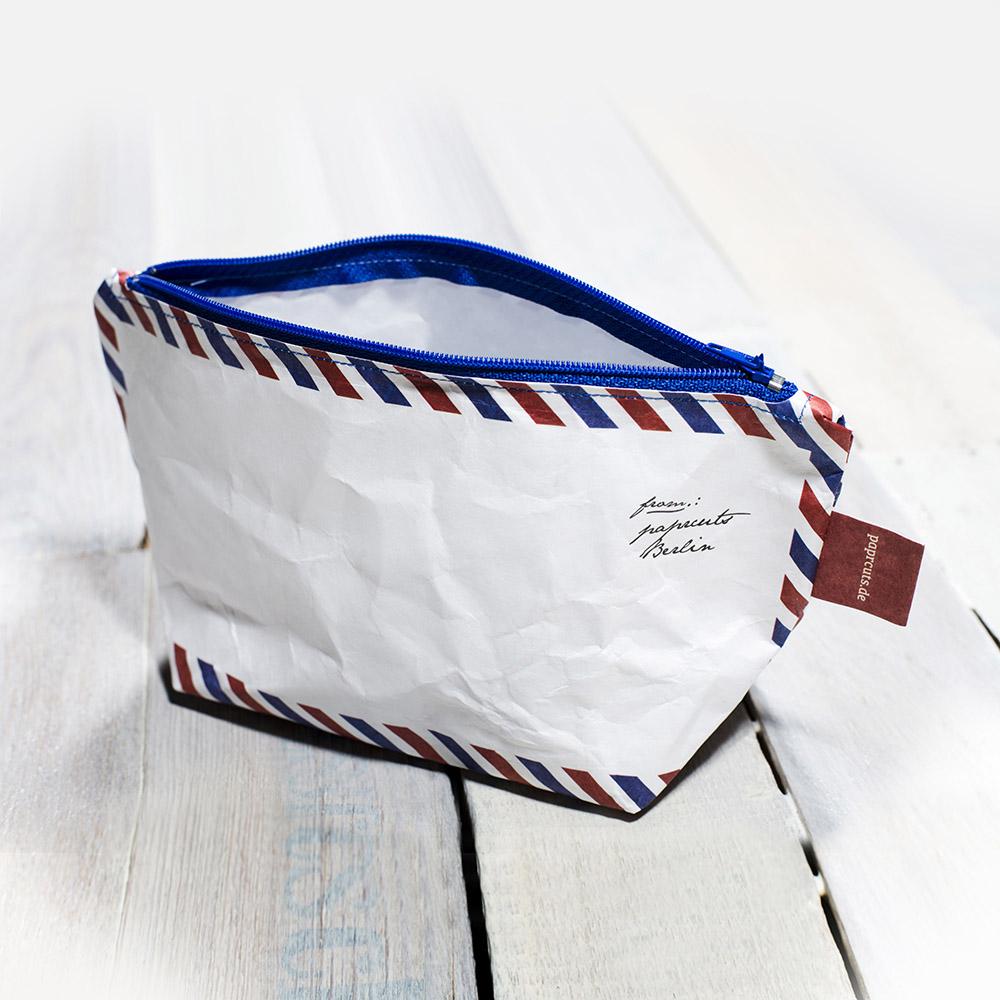 paprcuts|復刻風-化妝包(航空郵件)