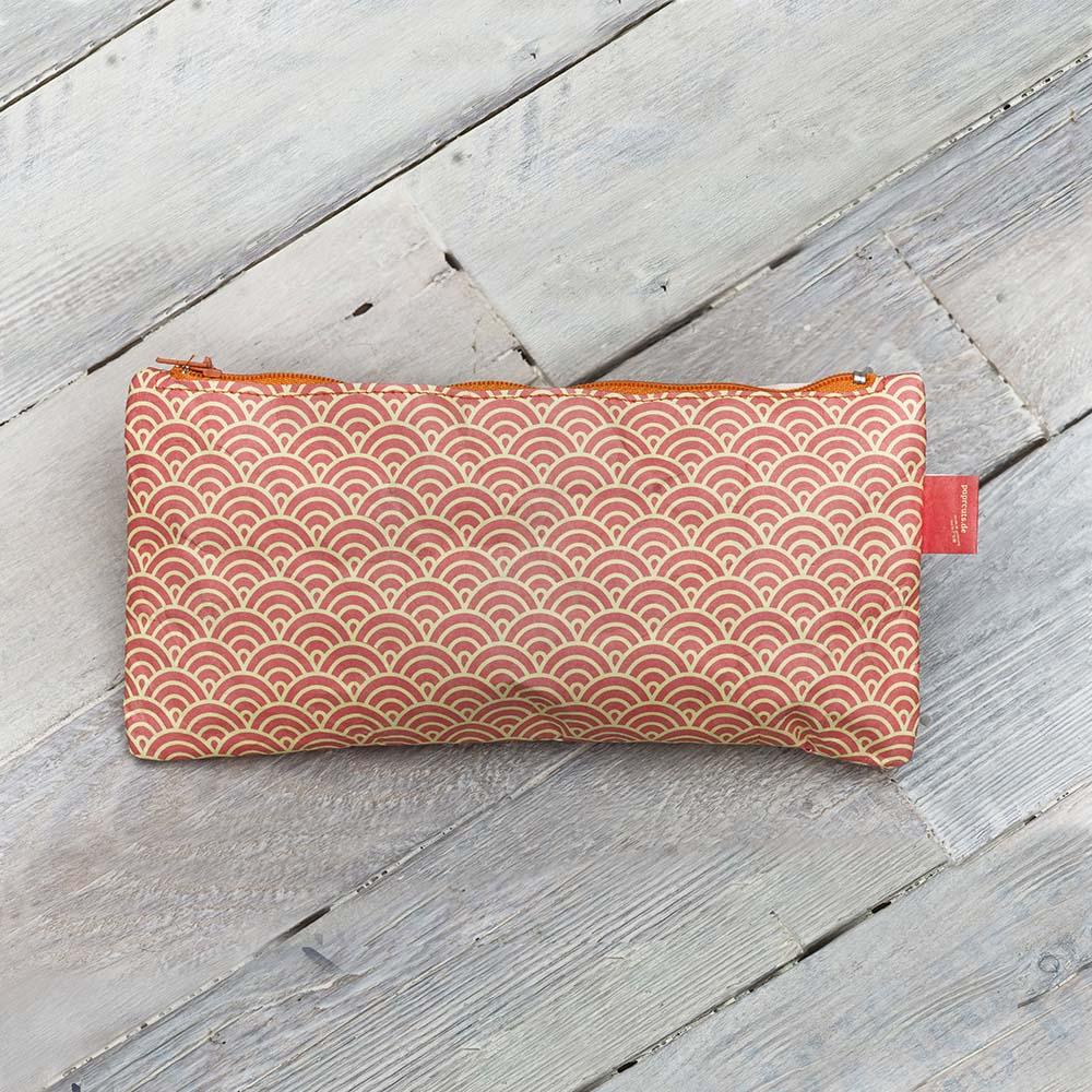 paprcuts|幾何風-筆袋(鯉魚橘)