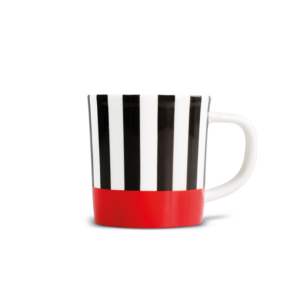 REMEMBER 骨瓷義式咖啡杯組(紅黑條紋)