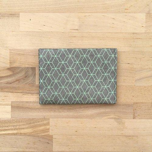 paprcuts|幾何風-零錢短夾(窗花綠)