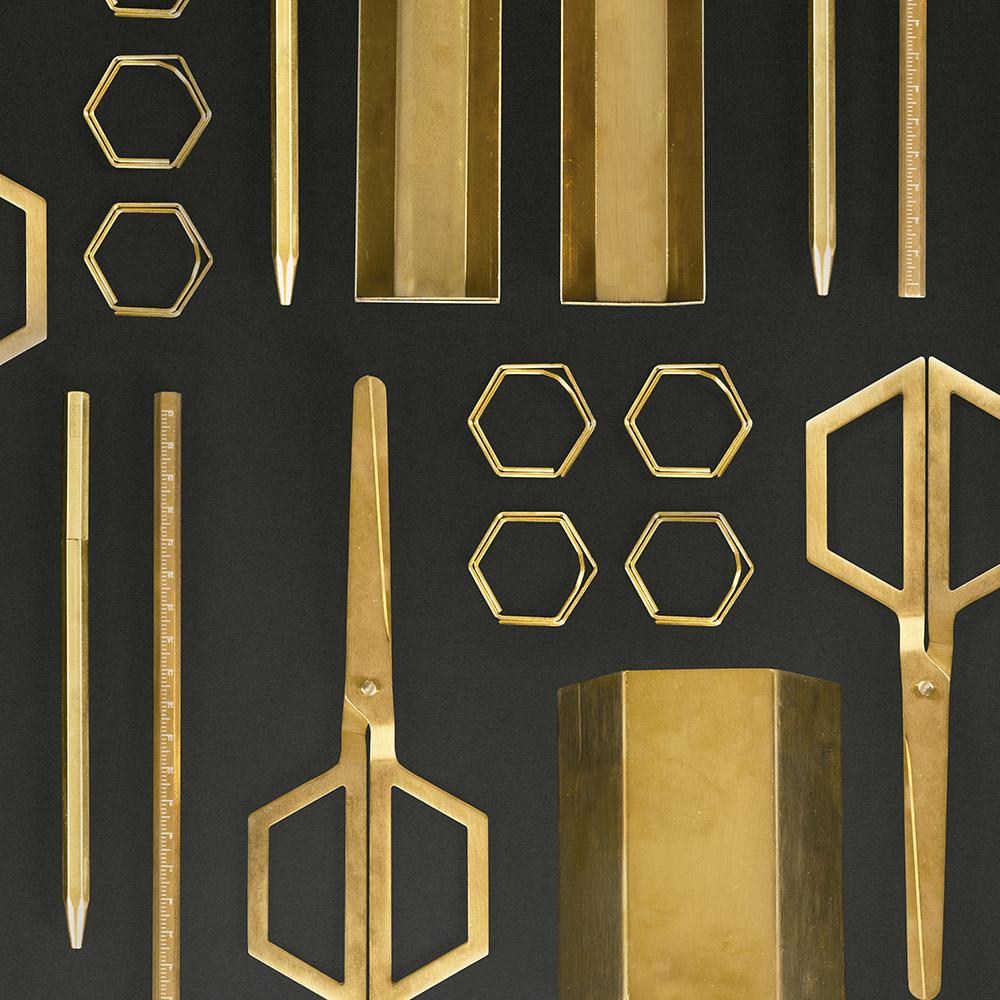 DOIY|六角黃銅筆筒