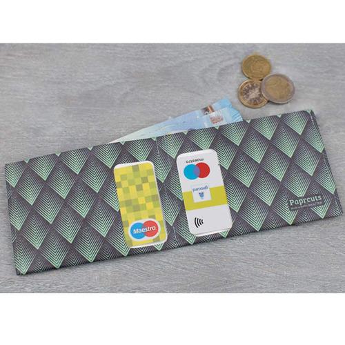 paprcuts|幾何風-零錢短夾(菱格綠)