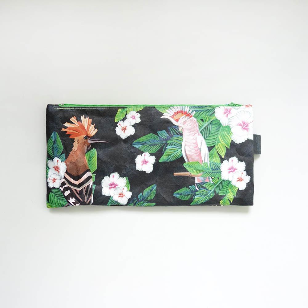 paprcuts|筆袋(粉紅鸚鵡)