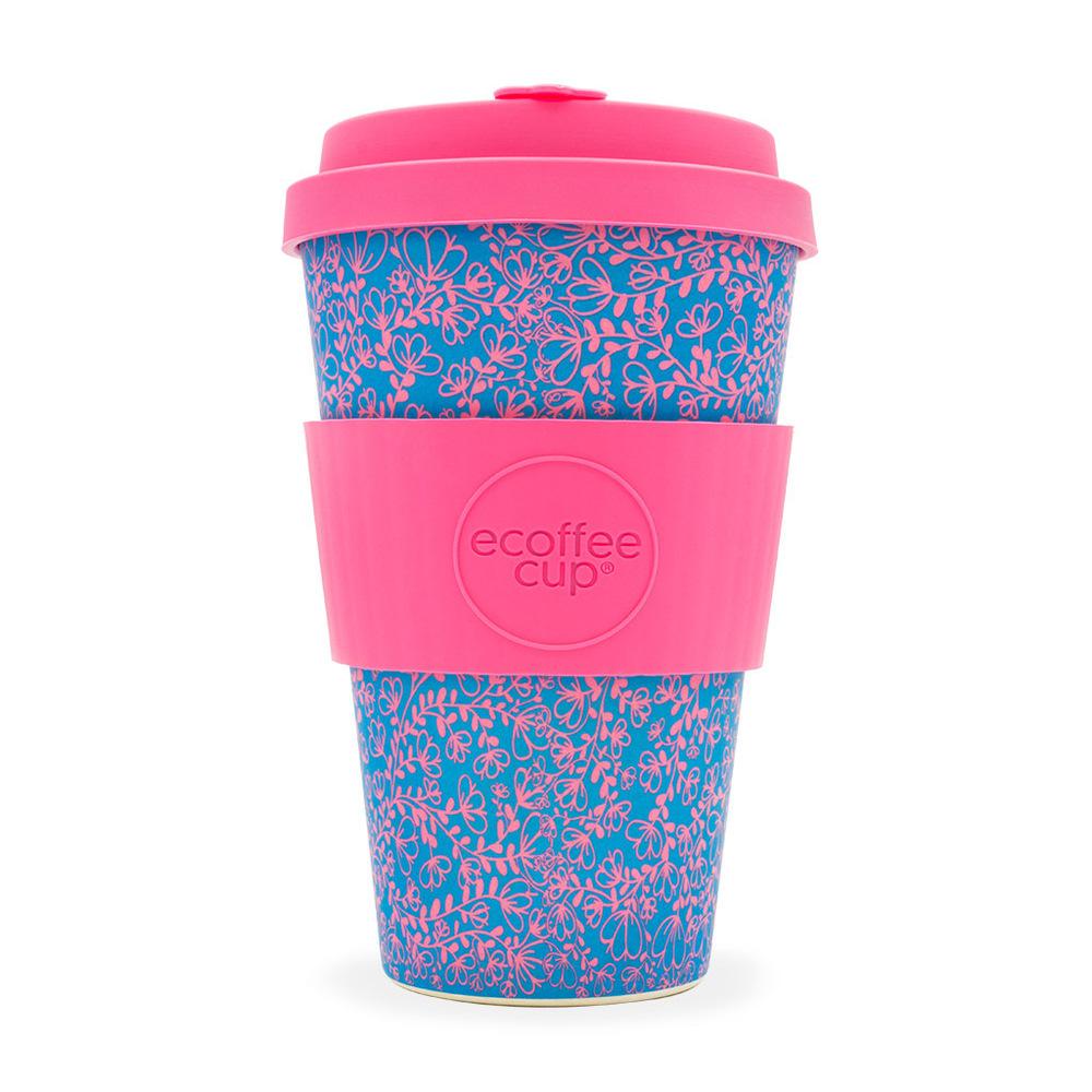 Ecoffee Cup|環保隨行杯14oz-粉藍花