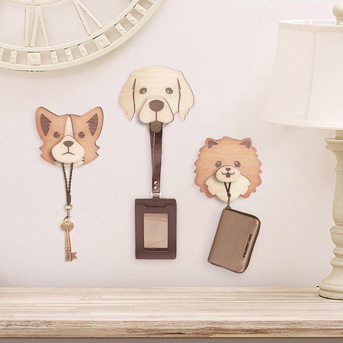 看家犬原木自黏掛勾系列 (貴賓、柯基、黃金獵犬、雪納瑞、博美)