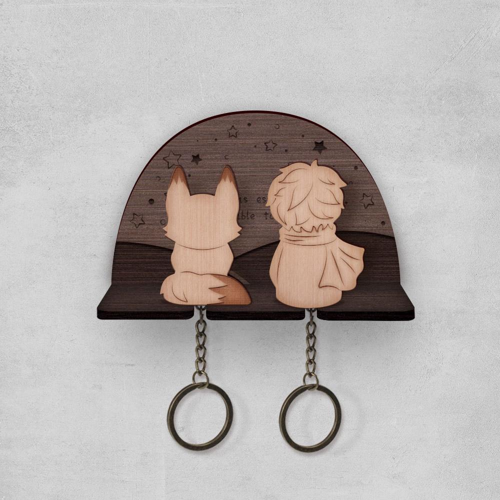 pazo|小王子與狐狸-鑰匙圈背掛架組