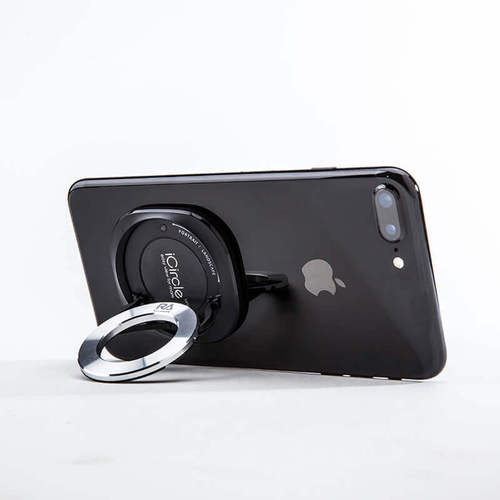 Rolling Ave.|iCircle uni 多功能手機支架 - 黑色黑環