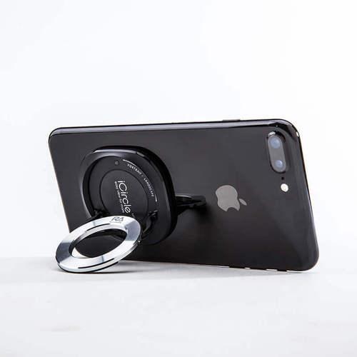 Rolling Ave.|iCircle uni 多功能手機支架 - 黑色銀環