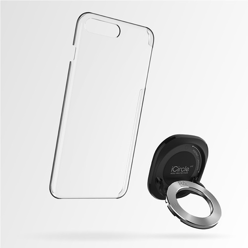 Rolling Ave. iCircle Uni iPhone 8 / 7 多功能支架保護殼 - 黑色銀環