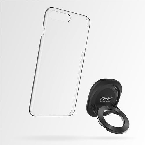 Rolling Ave.|iCircle Uni iPhone 8 / 7 多功能支架保護殼 - 黑色黑環