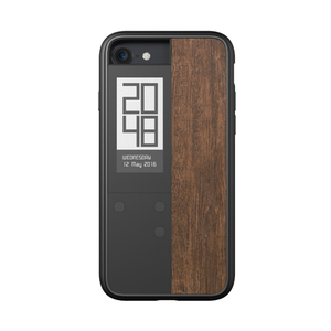 OAXIS|Ink case IVY 雙螢幕手機殼 for iPhone7 - 紫檀木紋
