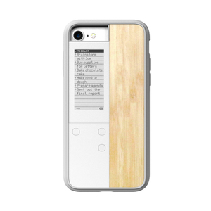 OAXIS|Ink case IVY 雙螢幕手機殼 for iPhone7 - 楓木紋