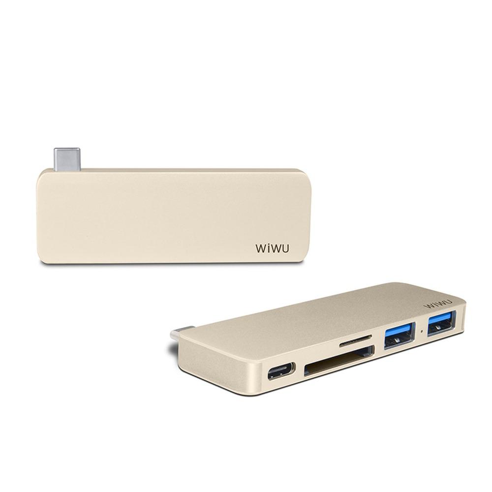 WiWU  | Type-C Hub 5 in 1 Hub 多功能充電傳輸集線器