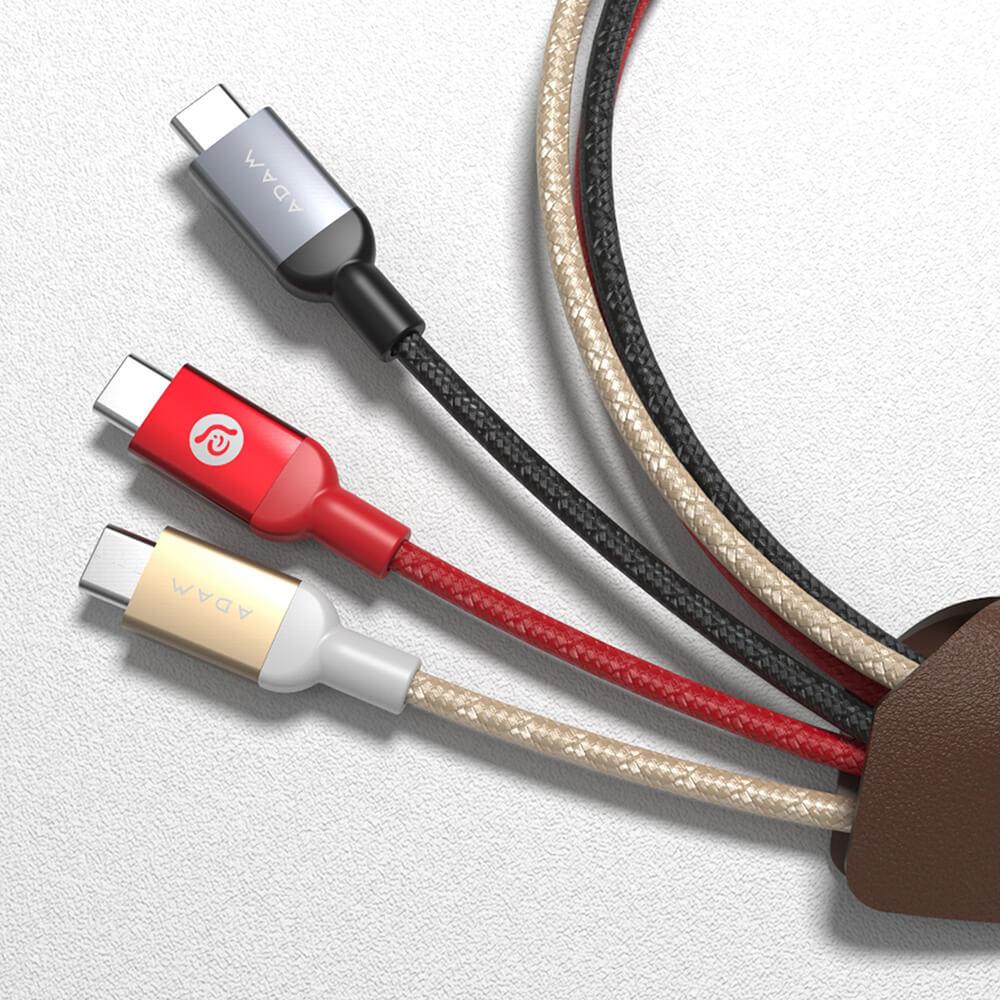 ADAM|USB-C 對 USB-C 金屬編織傳輸線 200cm