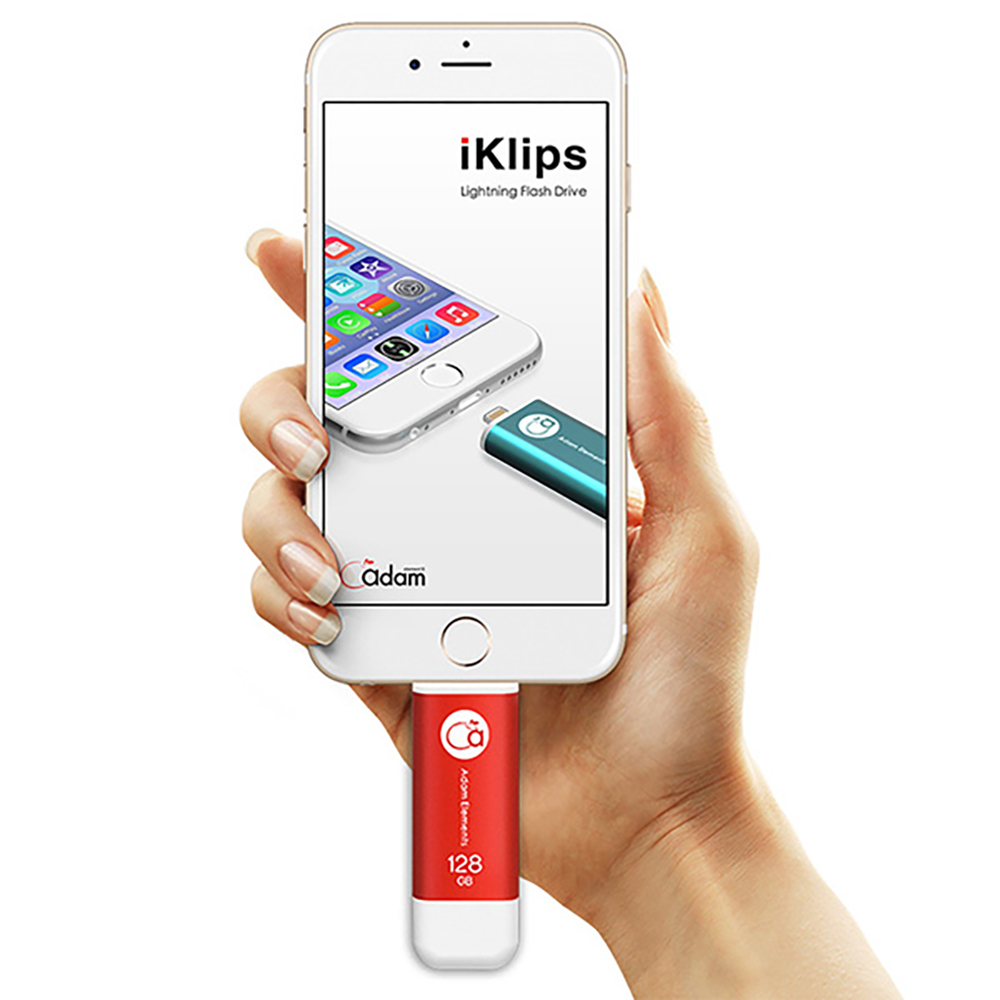 ADAM|iKlips 蘋果iOS極速雙向隨身碟 128GB