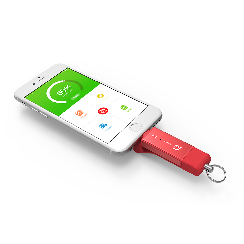 ADAM|iKlips DUO 蘋果iOS USB3.1極速雙向隨身碟 128GB