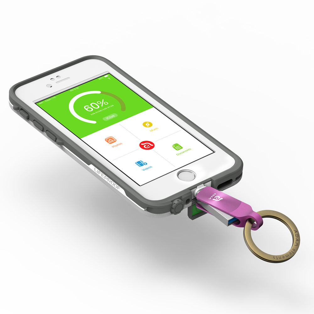 ADAM|iKlips DUO+ USB3.1 iOS極速雙向隨身碟 32GB 紫