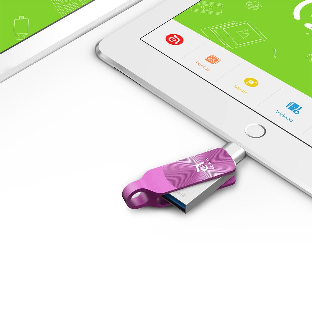 ADAM|iKlips DUO+ USB3.1 iOS極速雙向隨身碟 64GB 紫