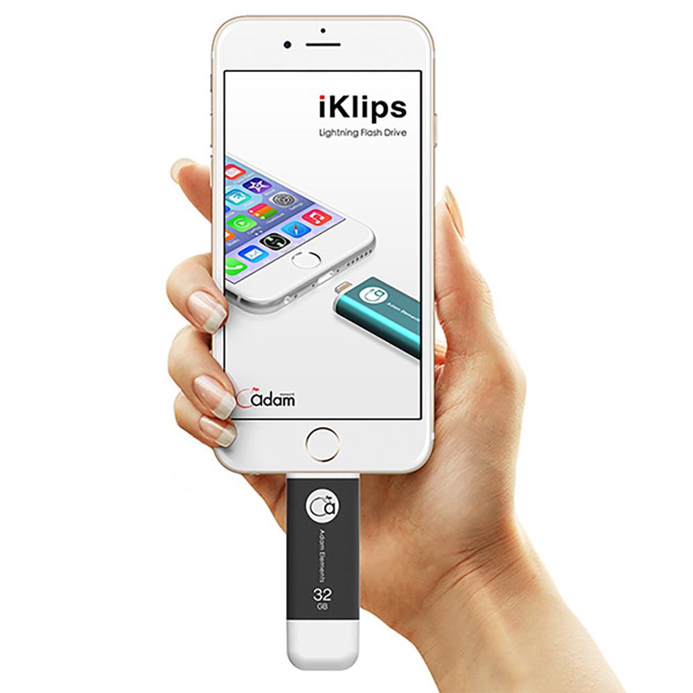 ADAM|iKlips iOS極速雙向隨身碟 32GB 灰