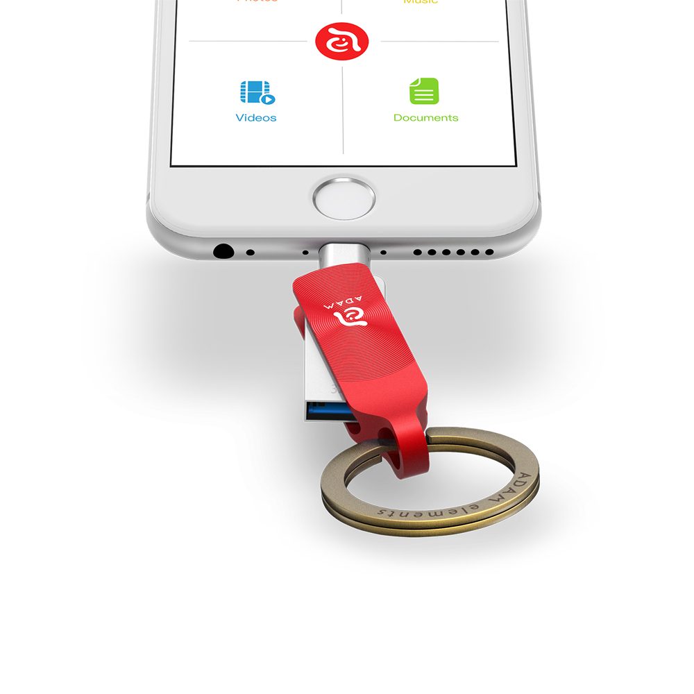 ADAM iKlips DUO+ USB3.1 iOS極速雙向隨身碟 32GB 紅