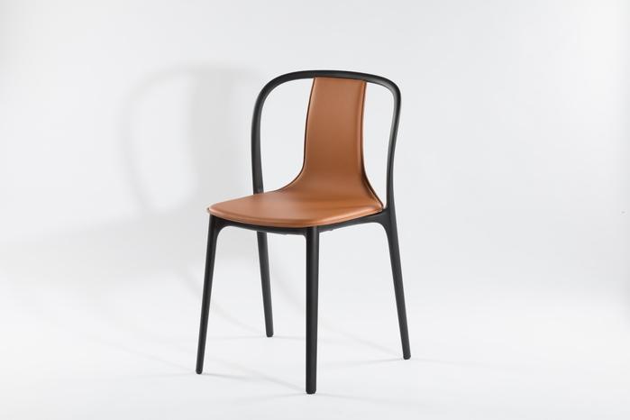 (複製)北歐櫥窗 Vitra Belleville Armchair 美麗城扶手椅(灰黑皮革)