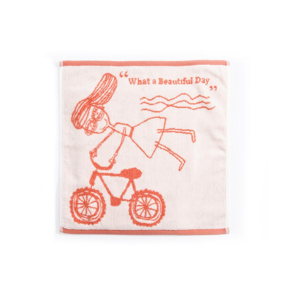 北歐櫥窗 cindymode|觸碰的療癒 橘色純棉巾(女孩小方巾)