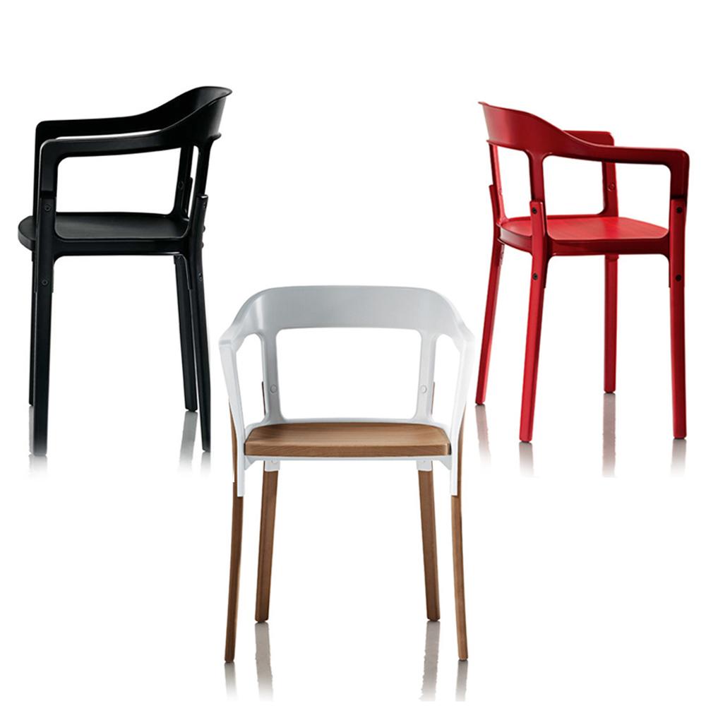 北歐櫥窗 Magis|Steelwood Chair 扶手椅