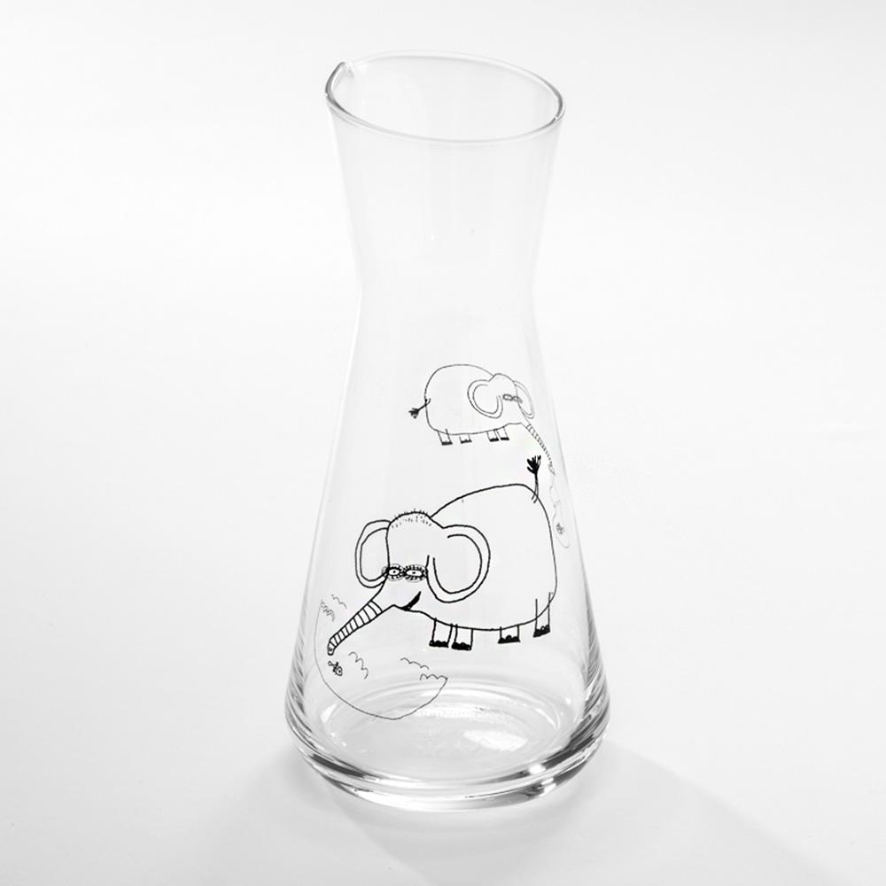 北歐櫥窗 cindymode|空器感玻璃瓶(池畔大象)