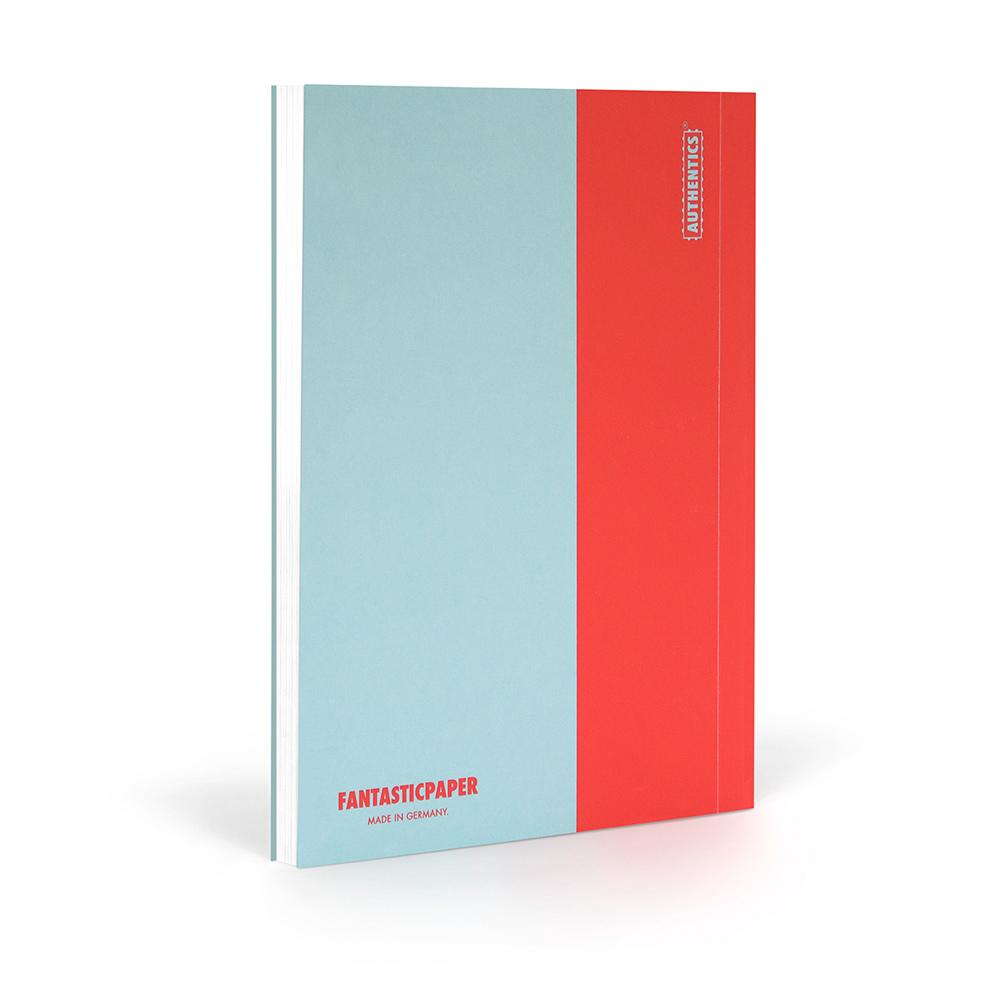 北歐櫥窗 FANTASTICPAPER|落紙如飛筆記書 XL(天藍x暖紅)