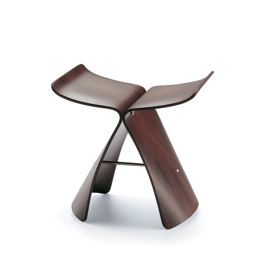 北歐櫥窗 Vitra|Butterfly stool 蝴蝶凳(花梨木)
