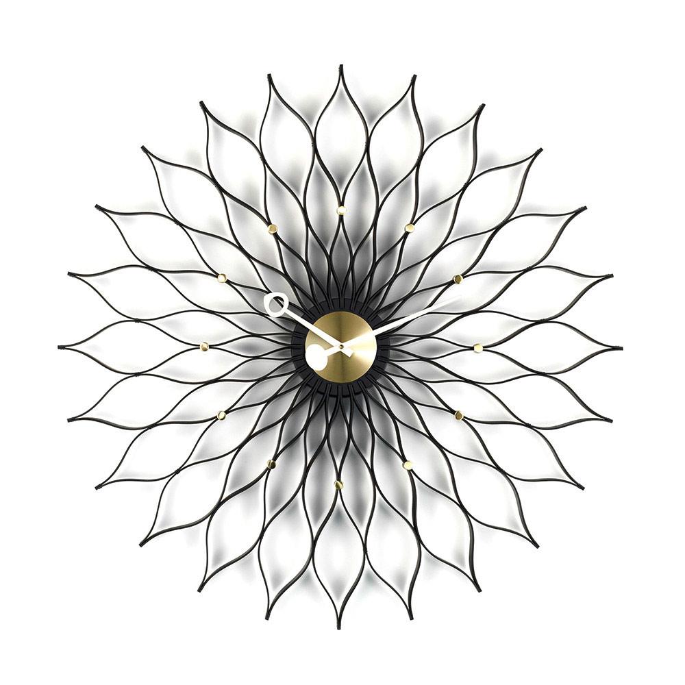 北歐櫥窗 Vitra|Sunflower Clock 旭日花掛鐘(黑曜金)