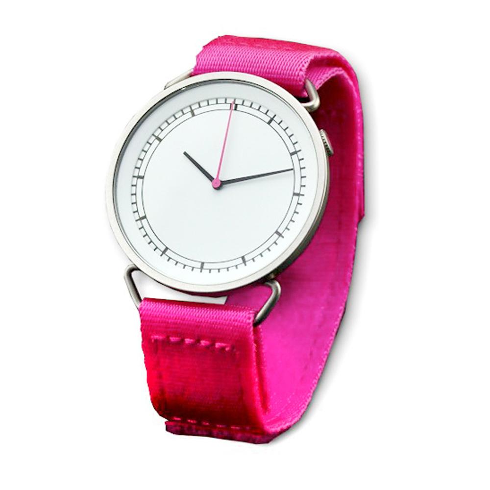 北歐櫥窗 Rosendahl Timepieces|MUW 腕錶(螢光紅)
