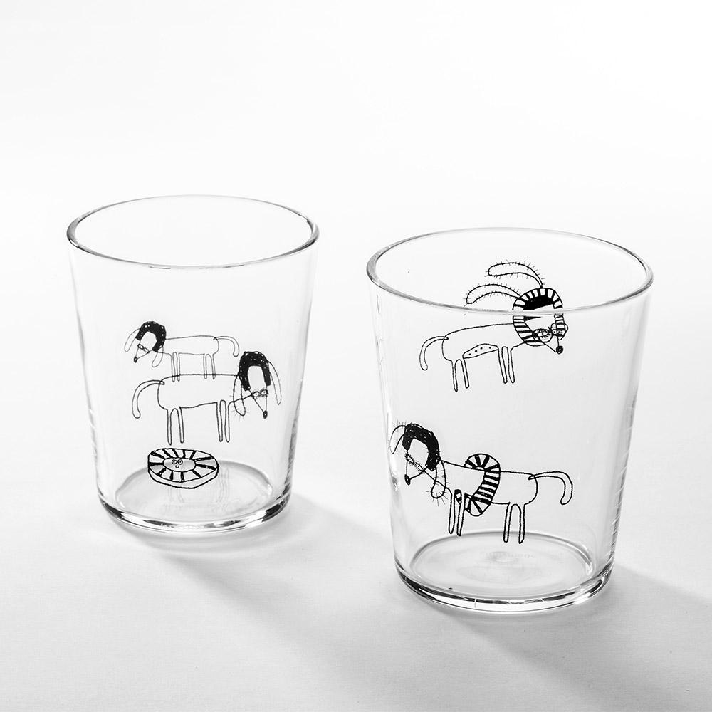 北歐櫥窗 cindymode|甜甜圈狗玻璃杯(二入組)