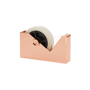 北歐櫥窗 Tom Dixon|Cube Tape Dispenser 紅銅璀璨膠台