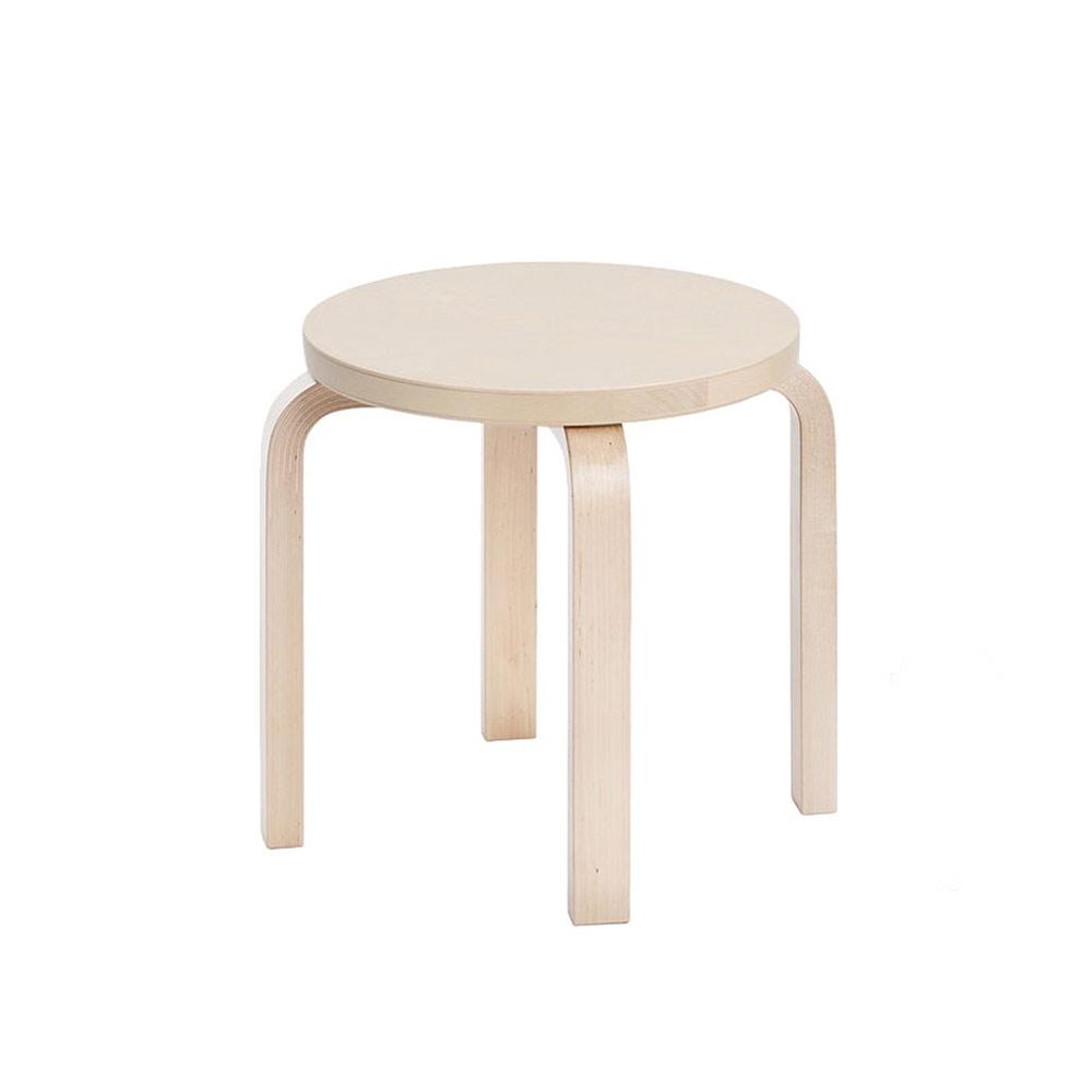 北歐櫥窗 Artek|Childrens Stool NE60 低四腳圓凳(原色)
