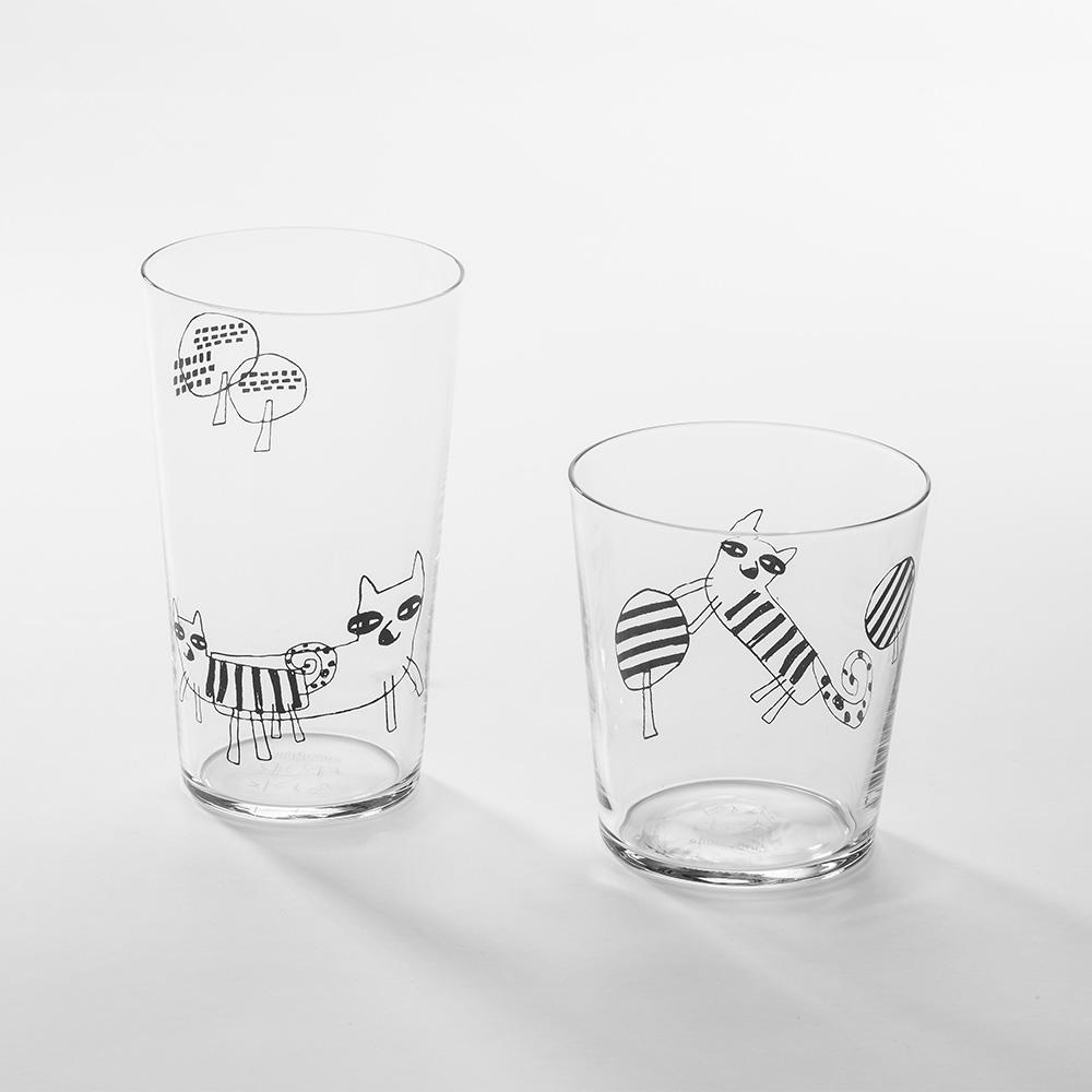 北歐櫥窗 cindymode|朵拉狐狸玻璃杯(二入組)