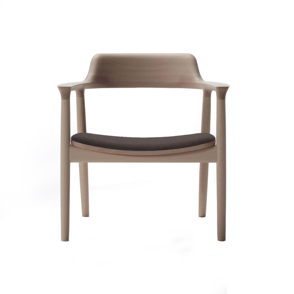 北歐櫥窗 maruni|Hiroshima 廣島扶手主人椅(深棕皮革)
