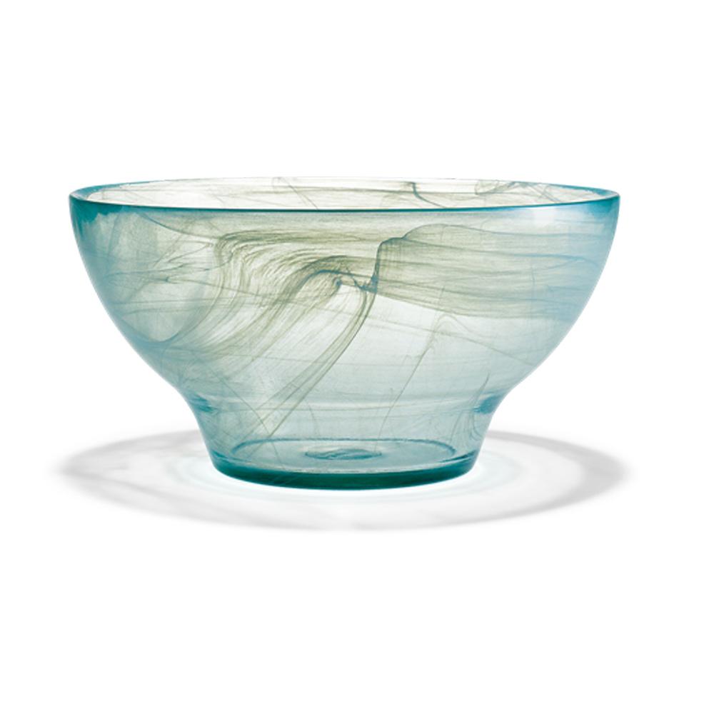 北歐櫥窗 Holmegaard 極光玻璃碗(日光藍、大)