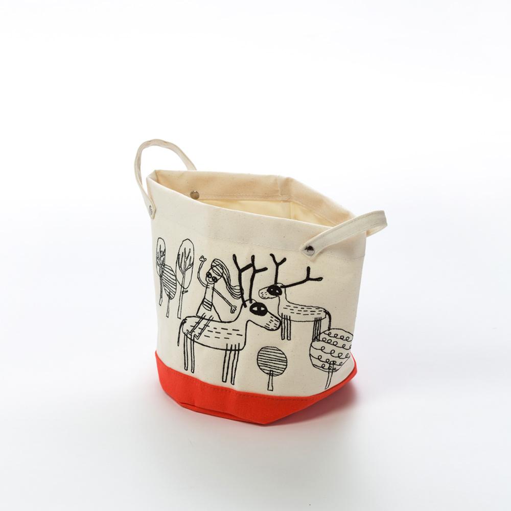 北歐櫥窗 cindymode 空間的容器 刺繡圓形收納袋(小)