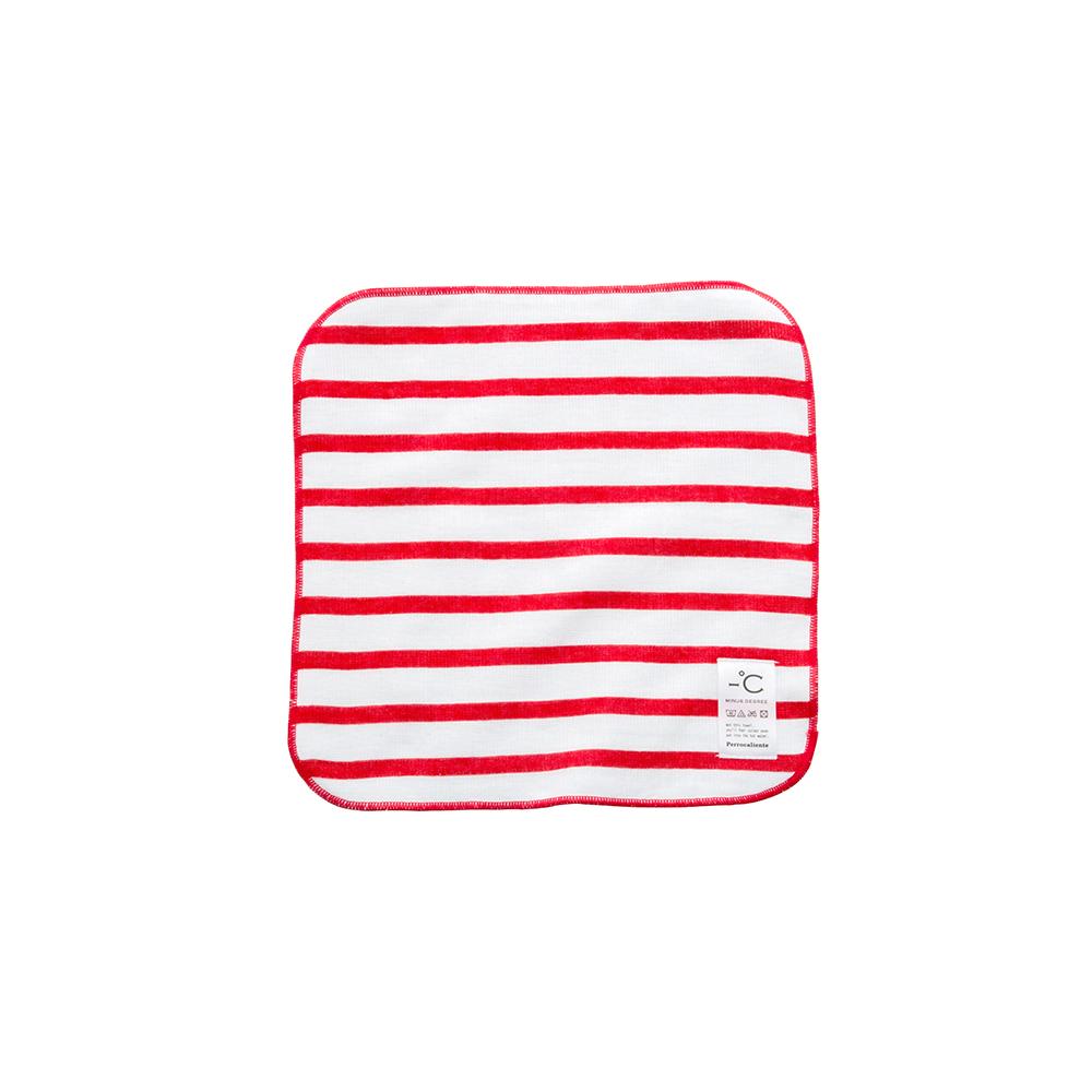 北歐櫥窗 Perrocaliente|Minus Degree Soft 親柔涼感手巾(條紋、鮮莓紅)